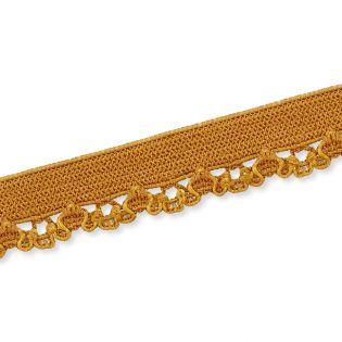 Spitzenborte - elastisch - 10 mm - camel
