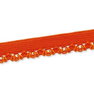 Spitzenborte - elastisch - 10 mm - orange