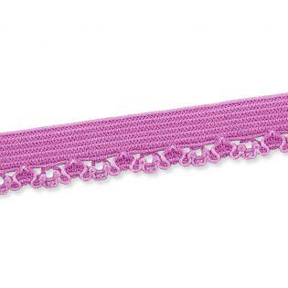 Spitzenborte - elastisch - 10 mm - lavendel