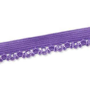 Spitzenborte - elastisch - 10 mm - lila