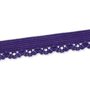 Spitzenborte - elastisch - 10 mm - violett