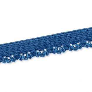 Spitzenborte - elastisch - 10 mm - jeansblau