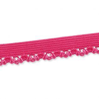 Spitzenborte - elastisch - 10 mm - pink