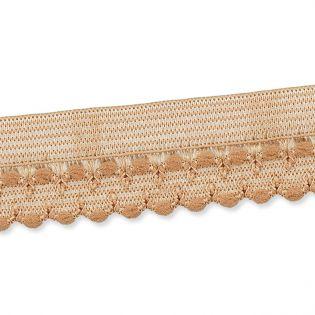 Spitzenborte - elastisch - 17 mm - nude