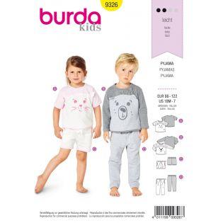 Schnittmuster - burda style - Pyjama – Shirt – Gummizughose – Shorts