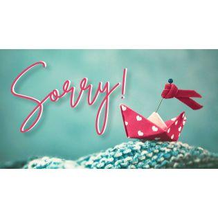 Gutschein - Sorry
