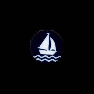 Öse - Segelboot - 11 mm - blau