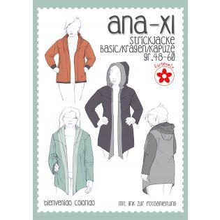 Schnittmuster - Farbenmix - Ana XL - Damen-Strickjacke