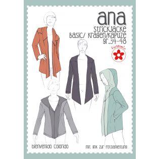 Schnittmuster - Farbenmix - ANA - Strickjacke - Damen