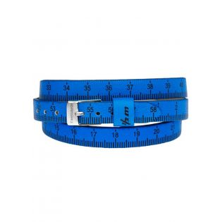 il mezzometro - Armband - Maßband - leuchtend blau - Größe L