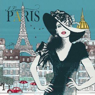 Jacquard Panel - Madame Paris - türkis