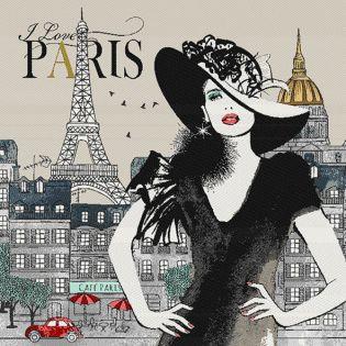 Jacquard Panel - Madame Paris - natur