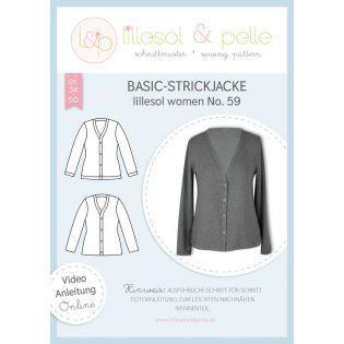 Schnittmuster - Lillesol & Pelle - Women - Basic-Strickjacke - No.59