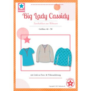 Schnittmuster - Farbenmix - Big Lady Cassidy - Plus-Size-Damen-Tunikabluse aus Webware