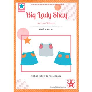Schnittmuster - Farbenmix - Big Lady Shay - Plus-Size-Damenrock aus Webware