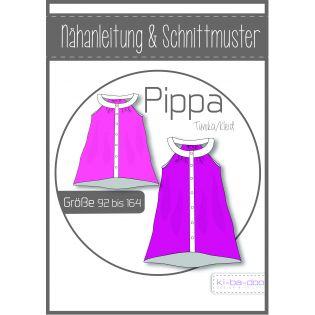 Schnittmuster - Girls - ki-ba-doo - Pippa - Tunika-Kleid mit Rundpasse