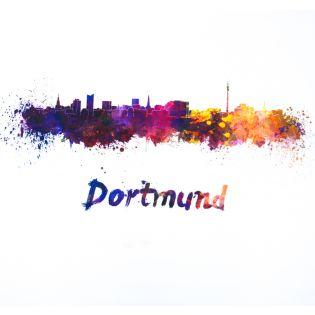 Deko - Zuschnitt - Druck - 50 x 50 cm - Skyline Dortmund