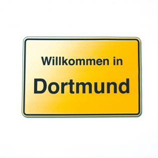 Deko - Zuschnitt - Druck - 50 x 50 cm - Ortsschild Dortmund