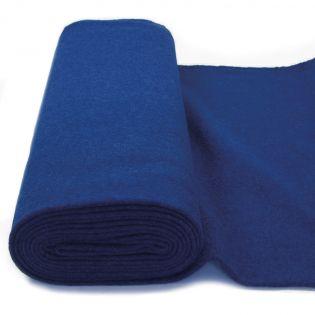Walkloden - schwer - uni - blau