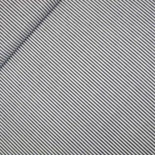 Popeline - garngefärbt - Streifen - grau-weiss