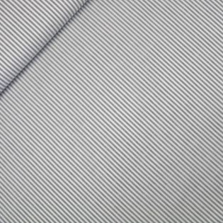 Popeline - garngefärbt - Streifen - grau