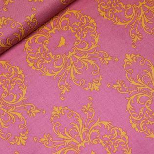 Baumwolle - Gütermann - French Cottage - Tierornamente - pink-orange