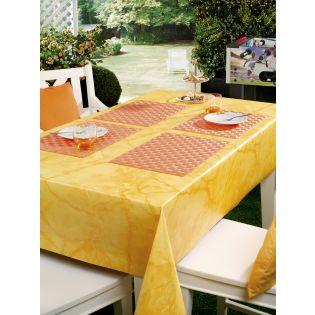 Wachstuch - marmoriert - gelb