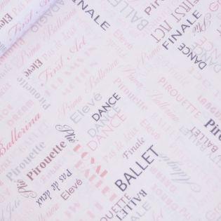 Baumwolle - Patchwork-Stoff - City Ballet - Schriftzug