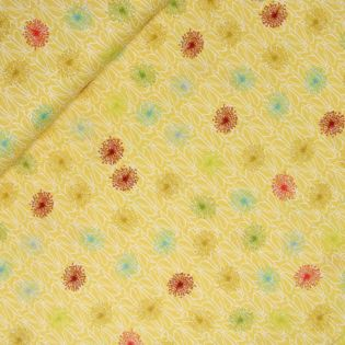 Baumwolle-Tulpen-Pusteblumen-gelb