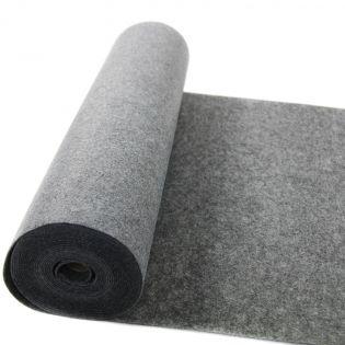 Dekofilz - 3mm - meliert - grau
