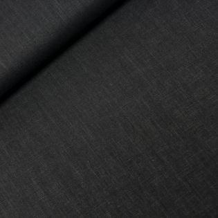 Reines Leinen - uni - schwarz