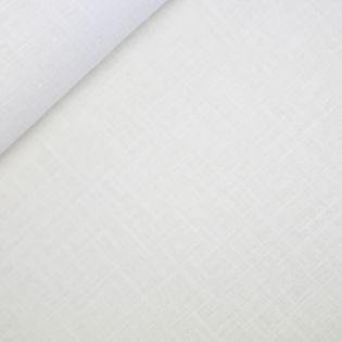 Reines Leinen - uni - wollweiss