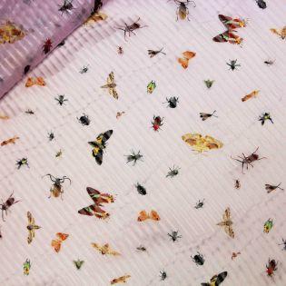 Seidenchiffon - Schmetterlinge - rosa