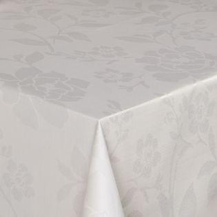 Jacquard-Gewebe - beschichtet - Ranke - wollweiss
