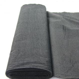 Misch-Genuacord - uni - schwarz-grau