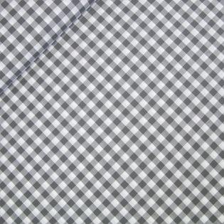 Popeline - garngefärbt - großes Karo - grau