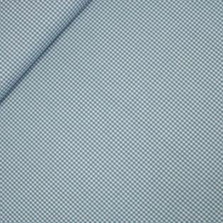 Popeline - garngefärbt - kleines Karo - petrol
