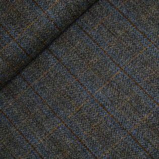 Original Harris Tweed - Herringbone - kariert - blau- braun