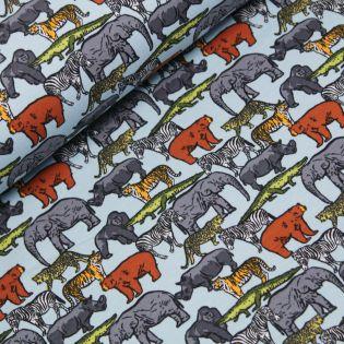 French Terry - Poppy - Safari Animals
