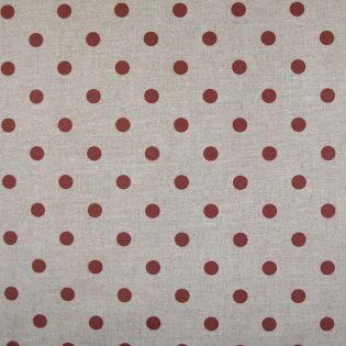 Dekostoff - beschichtet - Punkte - rot