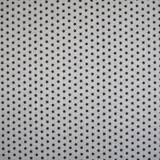 Dekostoff - beschichtet - Stars - grau-schwarz