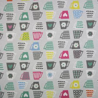 Baumwolle - beschichtet - digital - Tassen