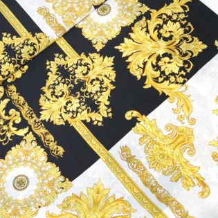 Seide - Ornamente - schwarz-weiss