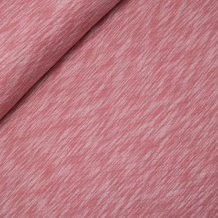 Gewebter Stepper - Jersey - meliert - rot
