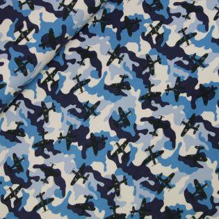 French Terry - Army Airplane - blau