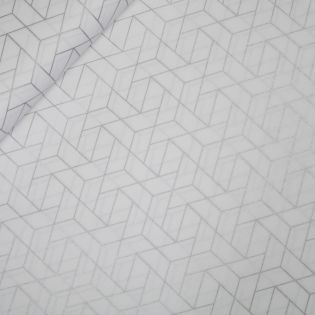 Baumwolle - Patchwork-Stoff - Mixology Luxe - weiss-silber