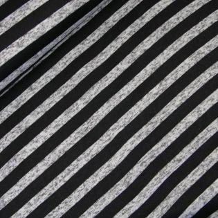 Sweatshirt - Streifen - grau-schwarz