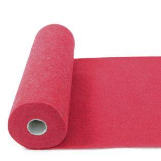 Wollfilz - 2 mm - meliert - rot