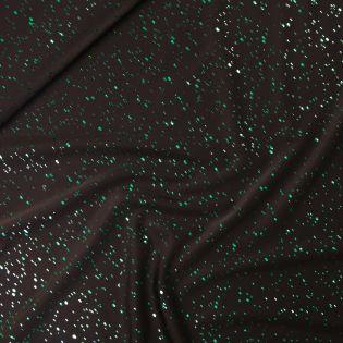 Glitzer-Jersey - Punkte - schwarz-grün