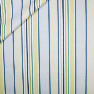 Dekostoff - Markisen-Streifen - grün-blau